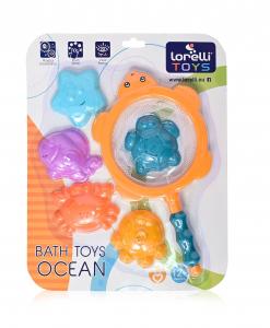 Jucarie de baie cu forme marine OCEAN, 5 piese